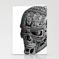 terminator Stationery Cards featuring Ornate Terminator by Adrian Dominguez