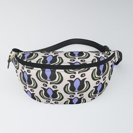 Tulip Pattern Lavender Green and Pink Fanny Pack