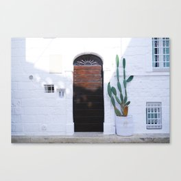 Summer and cactus Canvas Print