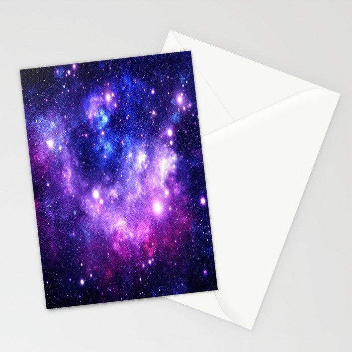 Purple Blue Galaxy Nebula Stationery Cards