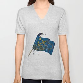 Hold Fast flag from The Last Franklin Expedition With Fox Capt McClintock (1860) Unisex V-Neck