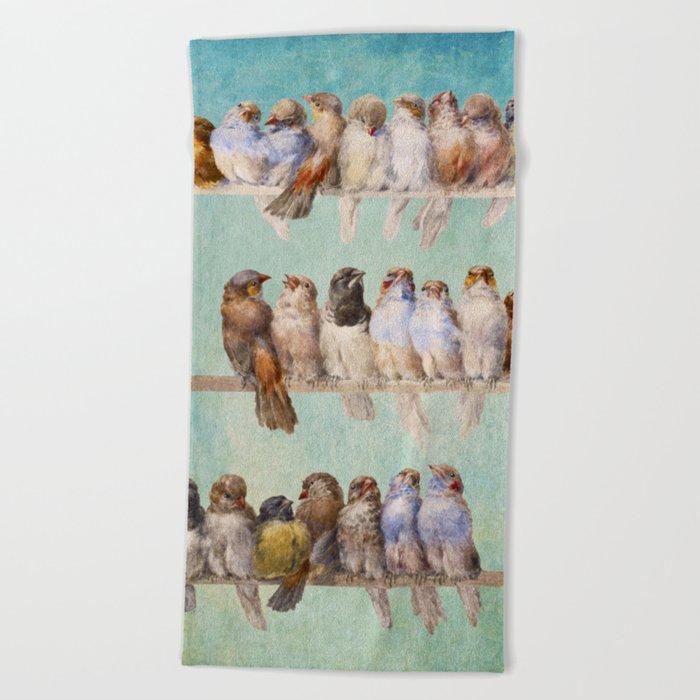 Birds Birds Birds Beach Towel