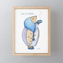 First Snow Fall Framed Mini Art Print
