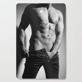 Photograph of a sexy man in Jeans Cutting Board
