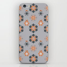Retro flowers iPhone Skin