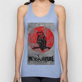 Nocturnal - Grunge Owl Unisex Tank Top