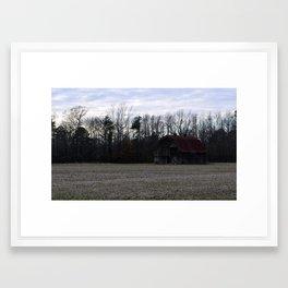 Lone Star Lakes - Abandoned Barn Framed Art Print