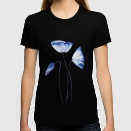 indigo poppy watercolor T-shirt