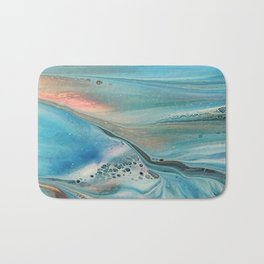 Pearl marble abstraction Bath Mat