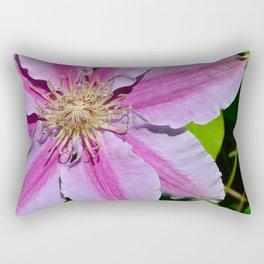 Pink Clematis by Teresa Thompson Rectangular Pillow