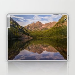 Early Summer Morning at Maroon Bells Laptop & iPad Skin