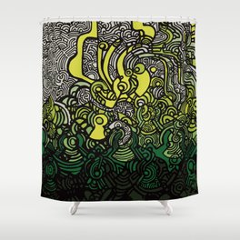 DEPTH-CHARGE Shower Curtain