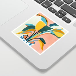 Nature Does Not Hurry Yet Everything Is Accomplished #painting Sticker