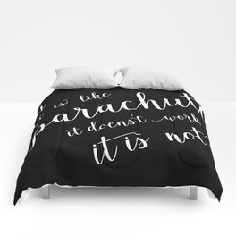 Parachute quote Comforters