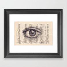 Eye in a Book Framed Art Print