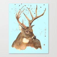 Ice Reindeer Canvas Print