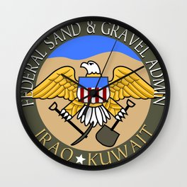 Federal Sand and Gravel Admin Wall Clock
