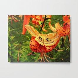 Vivid Moth Metal Print