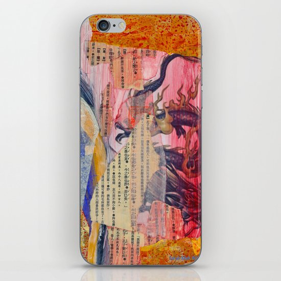 Collage Love - Zhong Long iPhone & iPod Skin