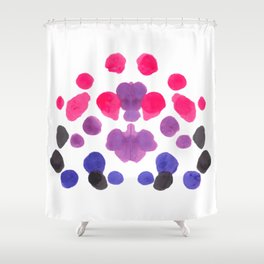 Rorschach Inkblot Diagram Psychology Abstract Symmetry Colorful Watercolor Art Pink Purple Blue Red Shower Curtain