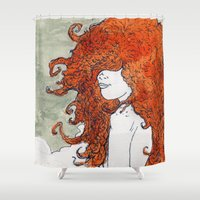 postcard Shower Curtains featuring Postcard to a Lover by Brent Braaten