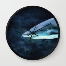 Gray Shark Head (Color) Wall Clock