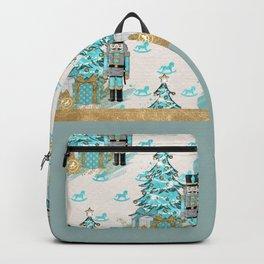 Teal Christmas Trees Backpack