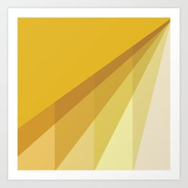 New Heights - Gold Art Print