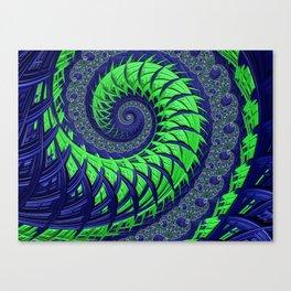 Seahawks Spiral Canvas Print