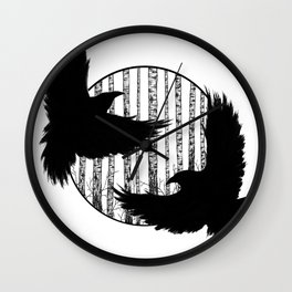 Black Birds I Wall Clock