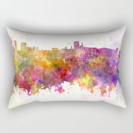 Birmingham skyline in watercolor background Rectangular Pillow