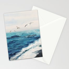 Watercolor Coast Stationery Cards
