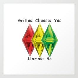 No Llamas Art Print