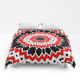 Bizarre Red Black and White Pattern Comforters