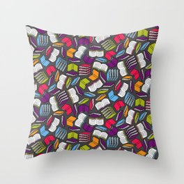 So Many Colorful Books... Throw Pillow