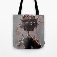 gemini Tote Bags featuring Gemini by Jyri Straechav