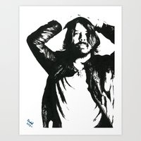 dave grohl Art Prints featuring Dave Grohl (1) by Carolyn Campbell