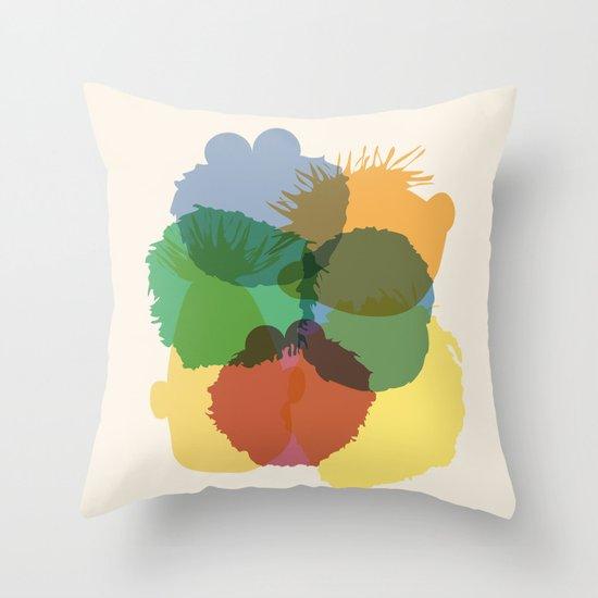Yay Sesame2 Throw Pillow