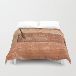Ancient Sandstone Wall Duvet Cover