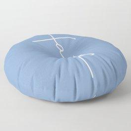 Simple Cross Floor Pillow