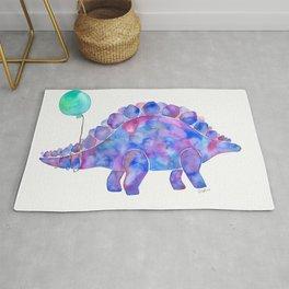 Tie Dye Stegosaurus with Balloon Rug