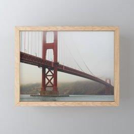 Golden Gate Fog Framed Mini Art Print
