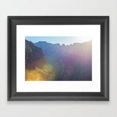 Arousal of Shadows (Zion National Park, Utah) Framed Art Print