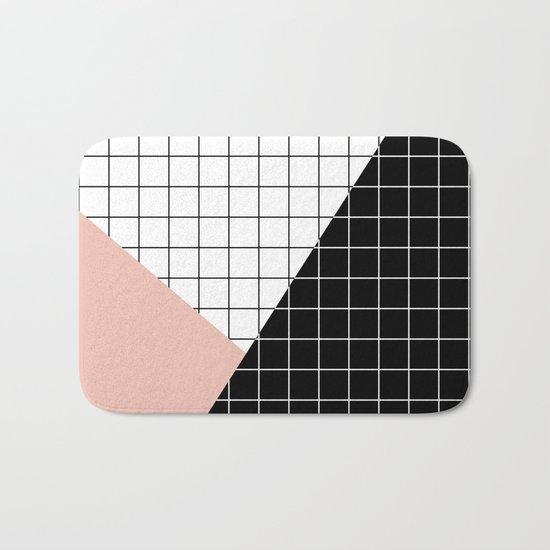 Minimal Geometry Bath Mat