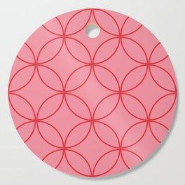 Moorish Circles - Pink & Red Cutting Board