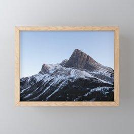 Ha Ling Peak Sunset Framed Mini Art Print