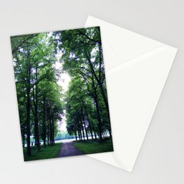 Peaceful green Stationery Cards