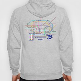 Mythical Creatures Subway Map Hoody