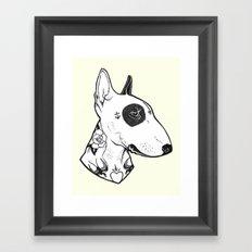 Bull Terrier dog Tattooed Framed Art Print