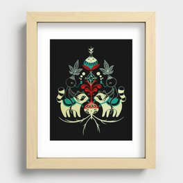 Mandragora and racoon. Recessed Framed Print